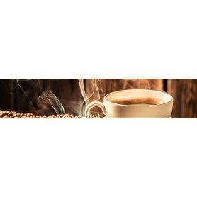"""Frise, Crédence """"Tasse de café avec grain"""""""