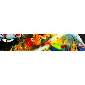 """Frise, Crédence """"Abstrait texture aquarelle et peinture"""""""