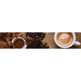 """Frise, Crédence """"Tasse et grains de café"""""""