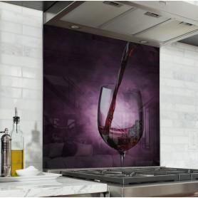"""Fond de hotte de cuisine """"Verre de vin rouge"""""""