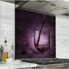 Fond de hotte verre de vin rouge