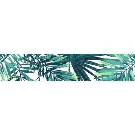 """Frise, Crédence """"Motif feuilles jungle"""""""