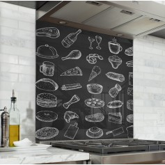 fond de hotte cocktail mojito verre et alu credence cuisine deco. Black Bedroom Furniture Sets. Home Design Ideas