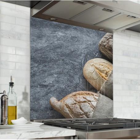 Fond de hotte pains rustiques sur ardoise