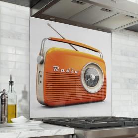 "Fond de hotte de cuisine ""Radio vintage"""