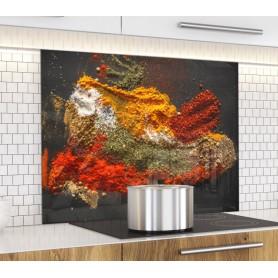 """Fond de hotte de cuisine """"Épices en poudre"""""""