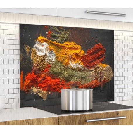 Fond de hotte variété d'épices sur ardoise