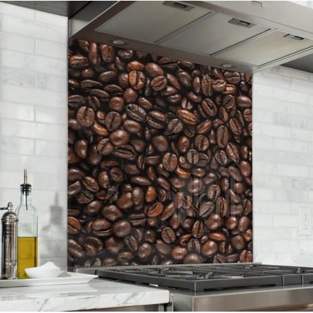 Fond de hotte texture grains de café