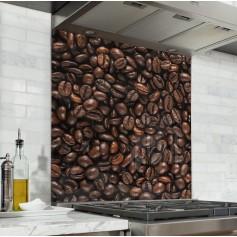 """Fond de hotte de cuisine """"Texture grain de café"""""""