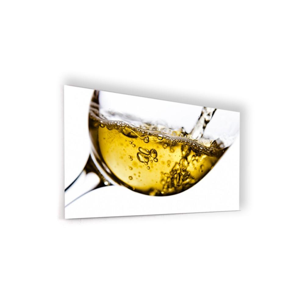 Fond de hotte verre vin blanc verre et alu credence for Fond blanc cuisine