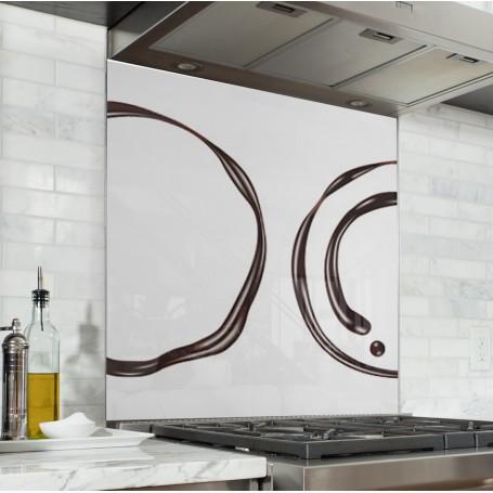 Fond de hotte blanc avec cercles de chocolat