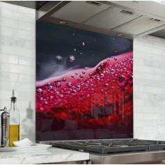 Fond de hotte noir avec vin rouge