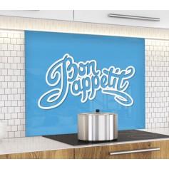 """Fond de hotte """"Bon appétit sur fond bleu"""""""