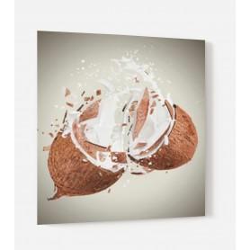 Fond de hotte blanc avec explosion de noix de coco marron crème