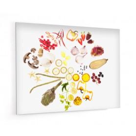 Fond de hotte adhésif blanc avec farandole de légumes
