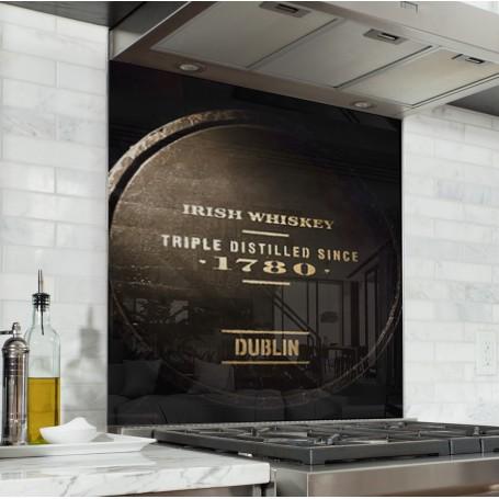 Fond de hotte noir tonneau Irish whiskey