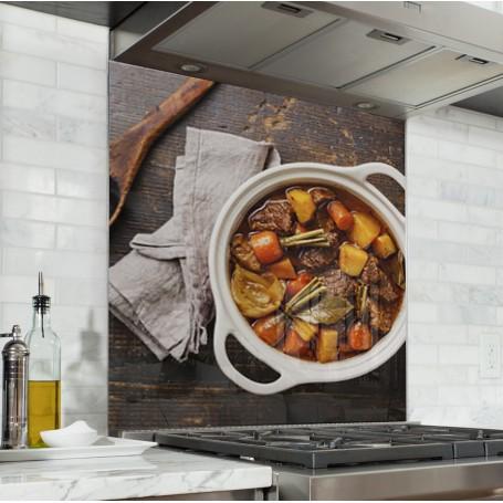 Fond de hotte plat cuisine française ratatouille