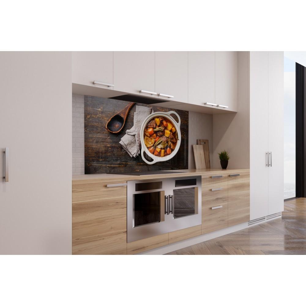 fond de hotte mijot de l gumes verre et alu credence cuisine deco. Black Bedroom Furniture Sets. Home Design Ideas