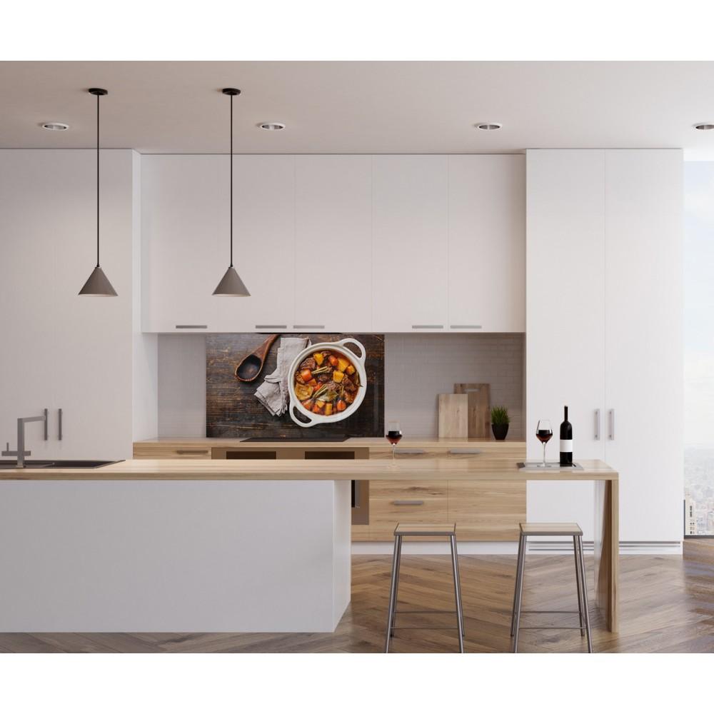 Fond pour hotte d coration murale de cuisine fabriqu en - Credence cuisine fantaisie ...
