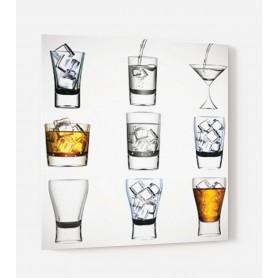 Fond de hotte blanc variété de verres
