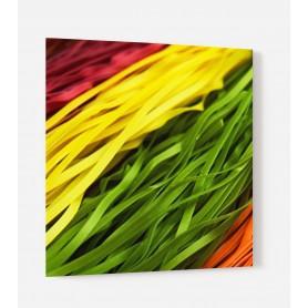 Fond de hotte pâtes multicolores rouge jaune vert