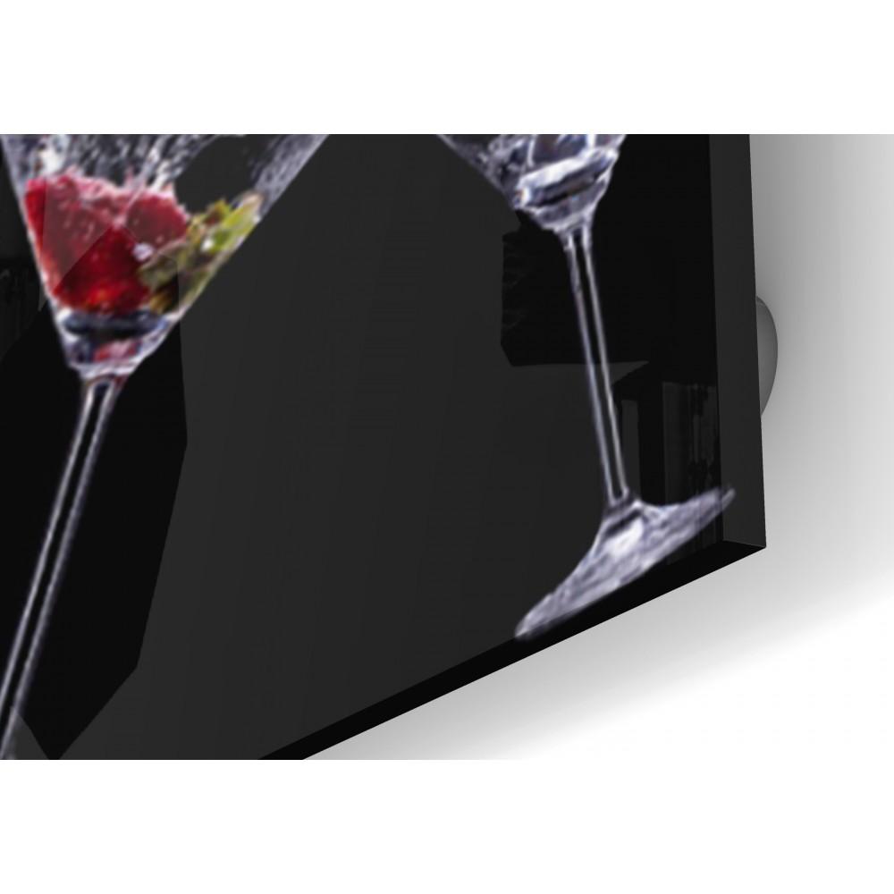 fond de hotte verres cocktail verre et alu credence. Black Bedroom Furniture Sets. Home Design Ideas