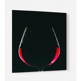 Fond de hotte noir ombre verre de vin rouge