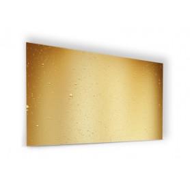 Fond de hotte jaune or avec bulles de champagne