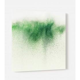Fond de hotte blanc avec explosion de poudre verte
