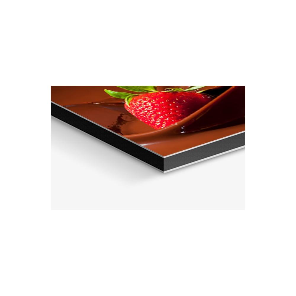 fond de hotte fraise et chocolat verre alu credence. Black Bedroom Furniture Sets. Home Design Ideas