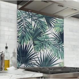 "Fond de hotte ""Motif feuilles jungle"""