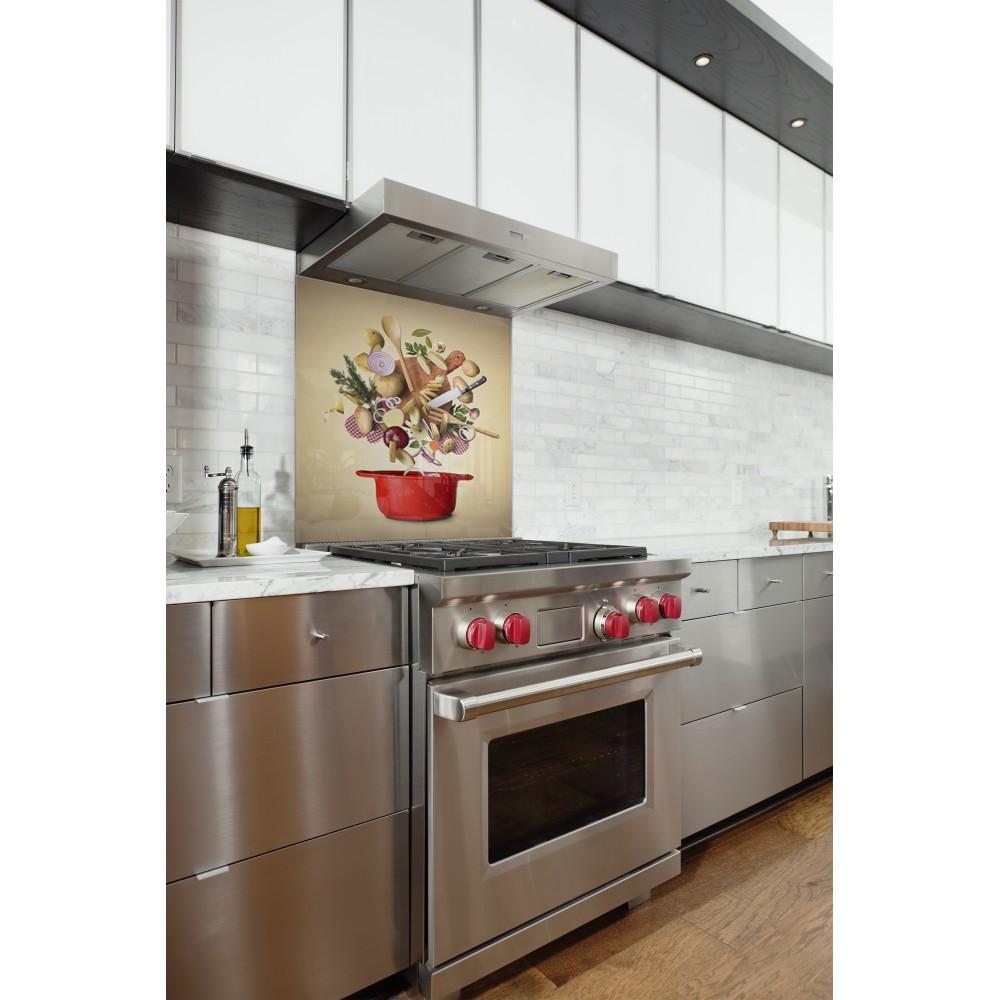 Fond de hotte pour cuisine accessoire d co moderne for Accessoire deco cuisine