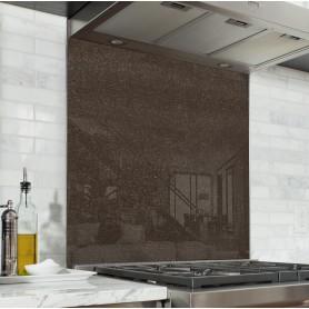 Fond de hotte effet texture marron imitation cuir