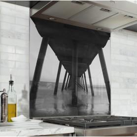 Fond de hotte effet pont noir et blanc