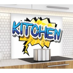 "Fond de hotte ""Pop kitchen"""