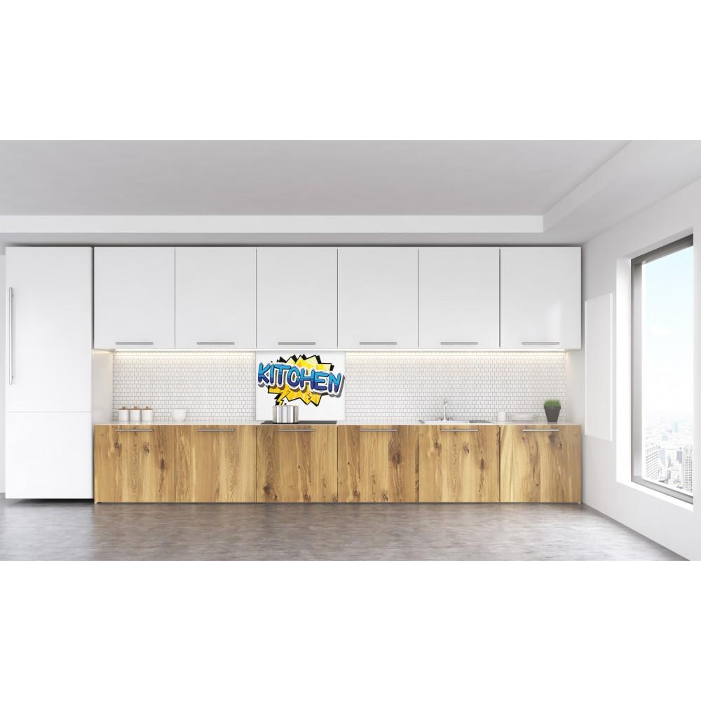 fond de hotte pop kitchen verre et alu credence cuisine deco. Black Bedroom Furniture Sets. Home Design Ideas