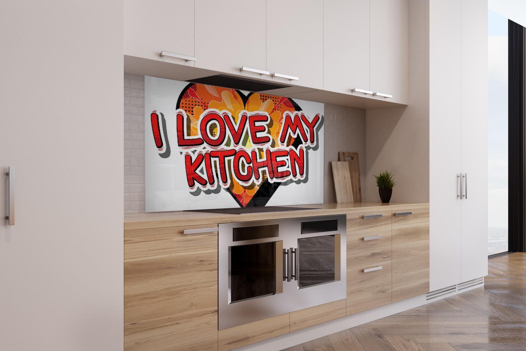 fond de hotte i love my kitchen verre alu credence cuisine deco. Black Bedroom Furniture Sets. Home Design Ideas
