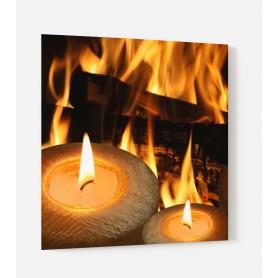 Fond de hotte avec effet bougies