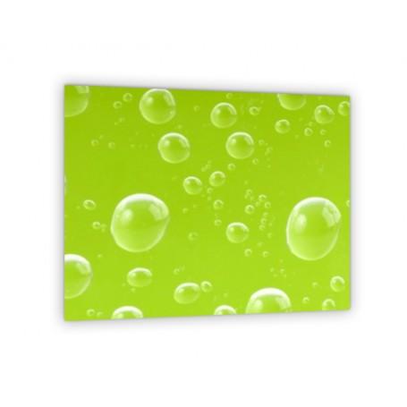 Crédence de cuisine bulles d'air sur fond vert