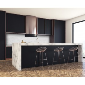 cr dence cuisine adh sive avec effet texture mati re verre alu cr dence cuisine d co. Black Bedroom Furniture Sets. Home Design Ideas