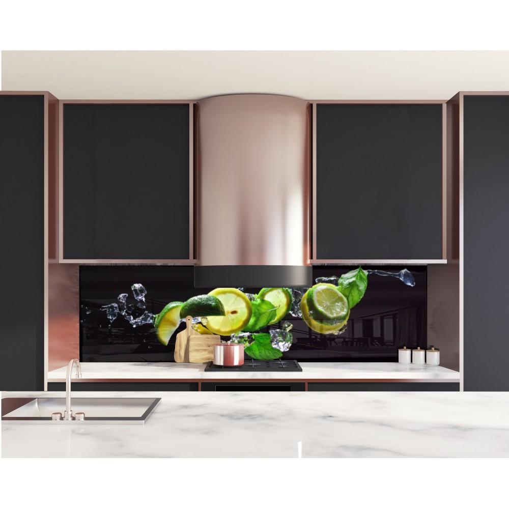 cr dence ingr dients mojito verre et alu credence cuisine deco. Black Bedroom Furniture Sets. Home Design Ideas