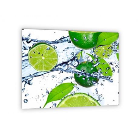 Crédence de cuisine citron vert, menthe et glaçons