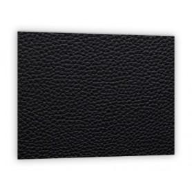 Crédence de cuisine effet texture cuir noir