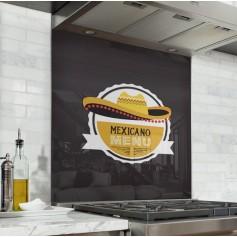 """Fond de hotte de cuisine """"Motif Mexicain"""""""