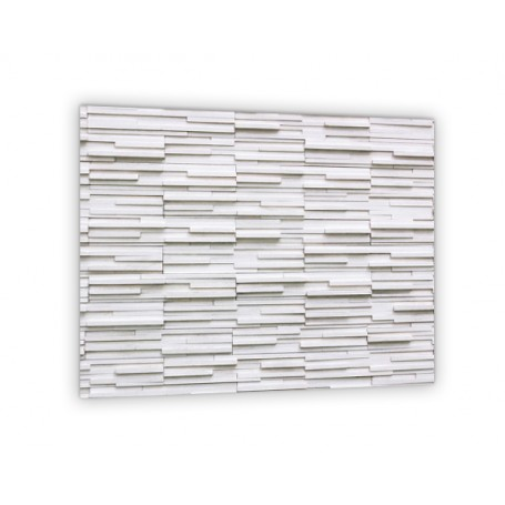 cr dence effet brique blanche verre et alu credence cuisine deco. Black Bedroom Furniture Sets. Home Design Ideas