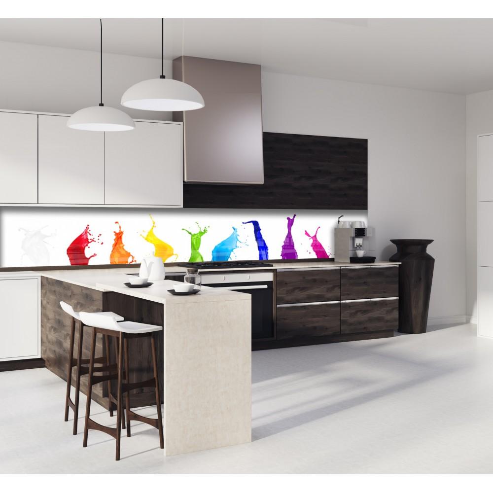 cr dence peinture color e verre et alu credence cuisine deco. Black Bedroom Furniture Sets. Home Design Ideas