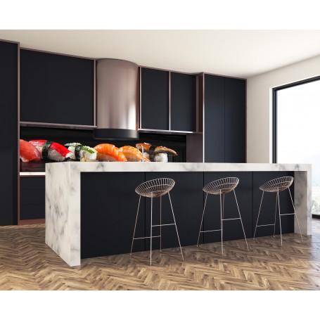 cr dence sushis nigiris verre et alu credence cuisine deco. Black Bedroom Furniture Sets. Home Design Ideas
