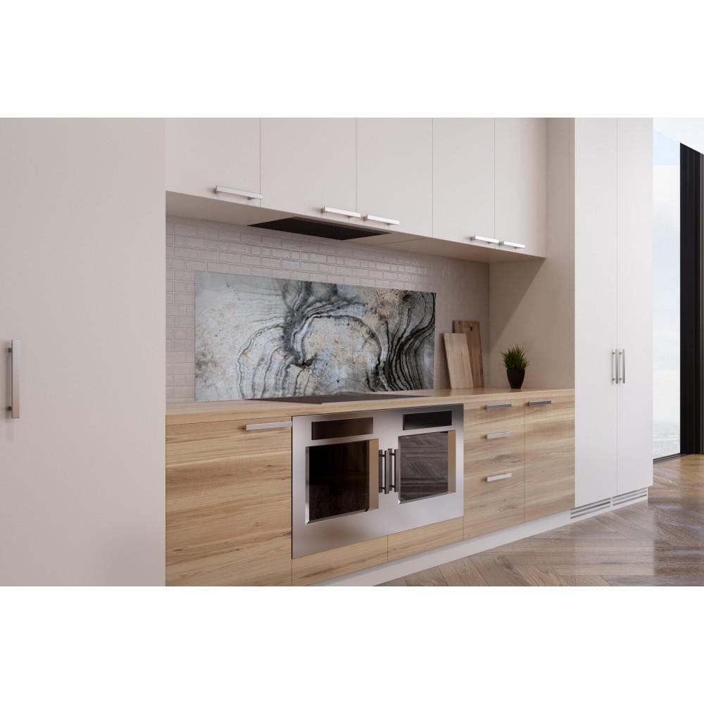 cr dence effet marbre argent verre et alu credence cuisine deco. Black Bedroom Furniture Sets. Home Design Ideas