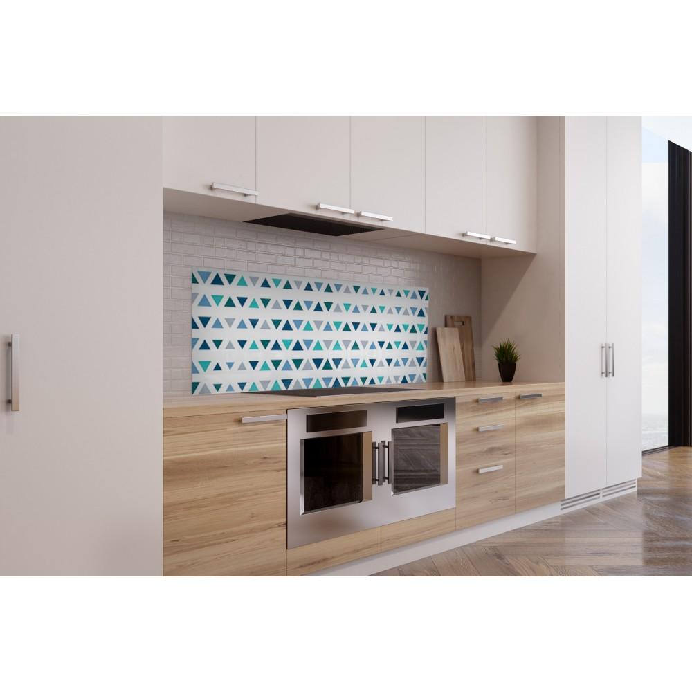 cr dence scandinave bleu et blanc verre alu credence. Black Bedroom Furniture Sets. Home Design Ideas