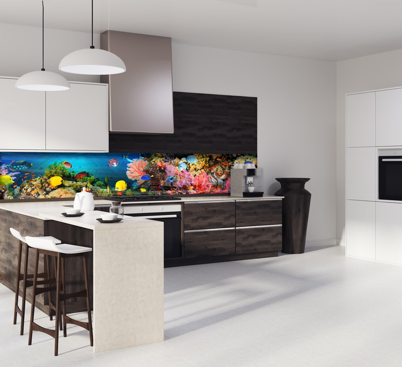 "cr�dence de cuisine ""panorama mer et corail"""